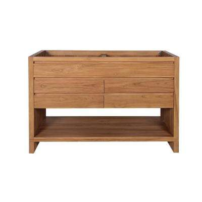 Kai 48 in. W x 21 in. D x 34 in. H Bath Vanity Cabinet Only in Natural Teak