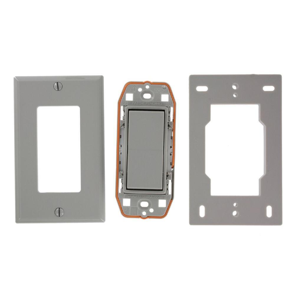 Leviton Self-Powered Wireless Push On/Off Remote Rocker Switch ...