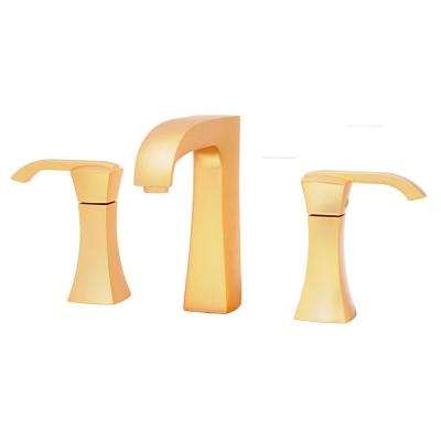 Lady 8 in. Widespread 2-Handle Mid-Arc Bathroom Faucet in Satin Gold