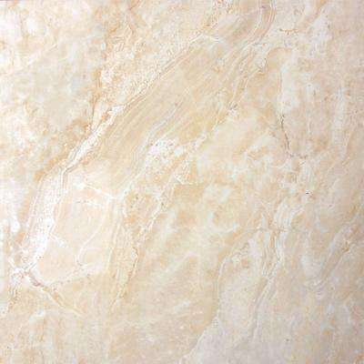 Onyx Crystal 18 in. x 18 in. Glazed Polished Porcelain Floor and Wall Tile (13.5 sq. ft. / case)