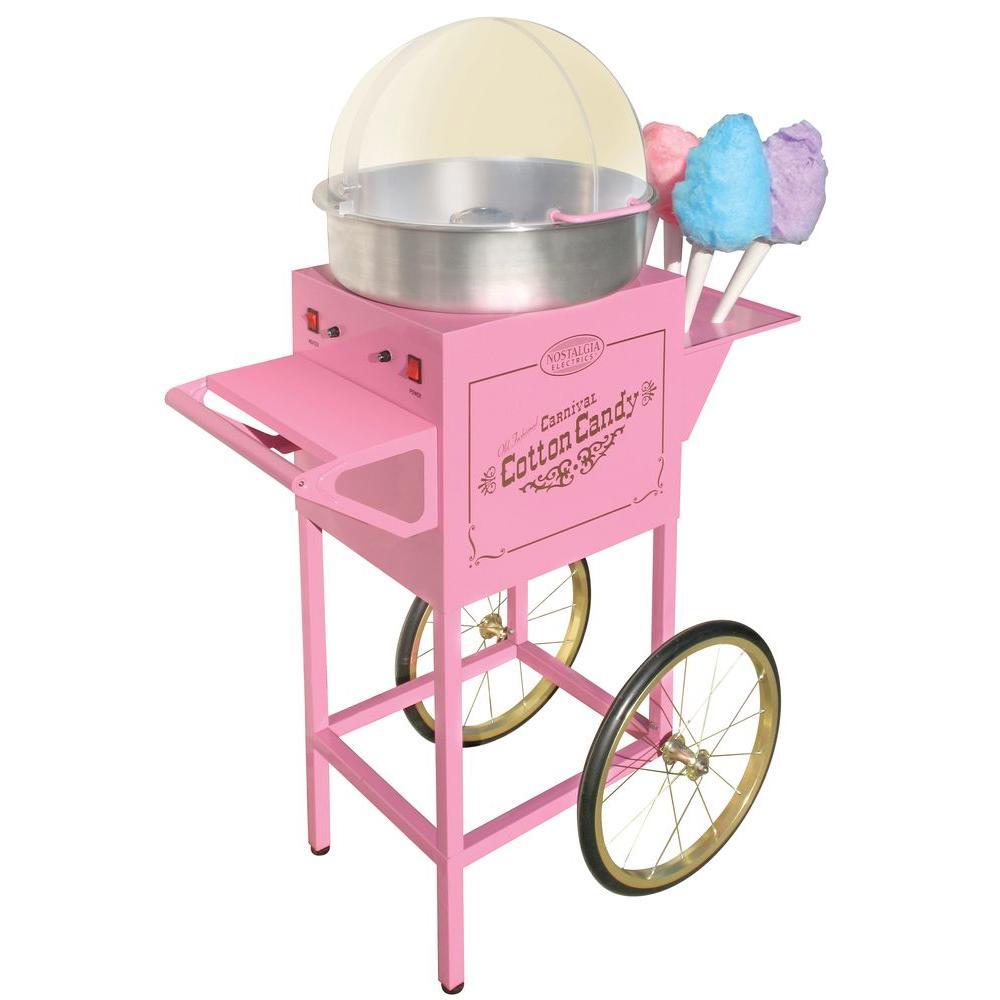 Nostalgia Vintage Old Fashioned Cotton Candy Maker & Cart