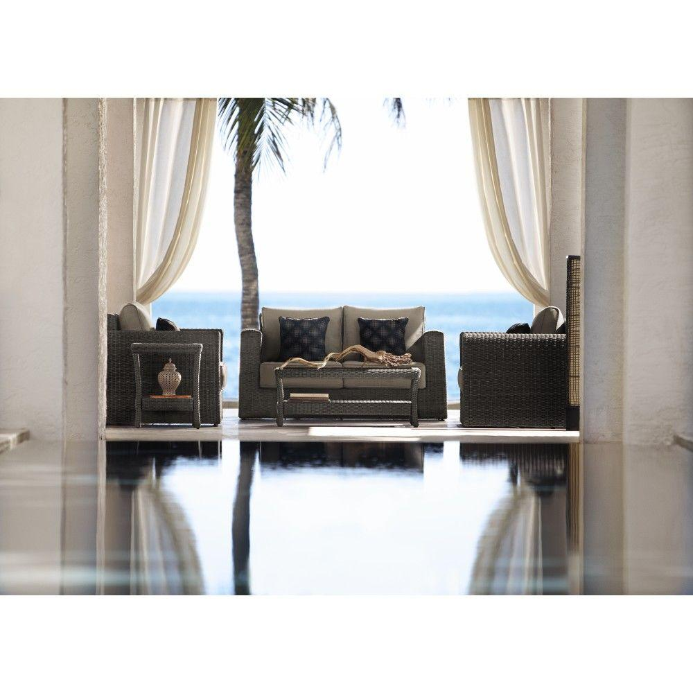 Home Decorators Collection Naples Marrone Grey 5-Piece Patio Deep Seating Set