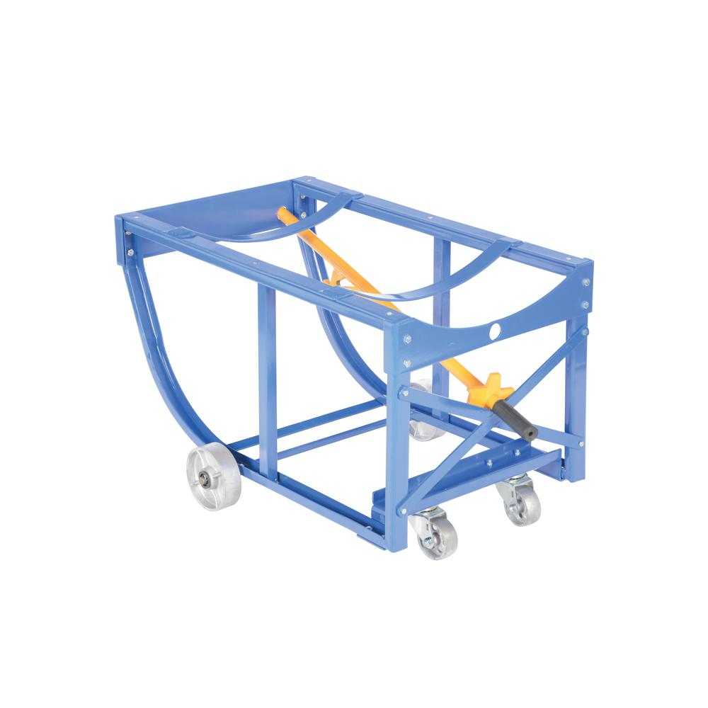 800 lbs. Rotating Drum Cart Steel Wheels
