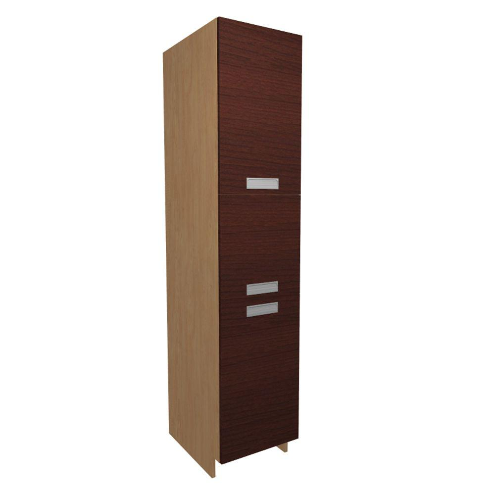 Home Decorators Collection Genoa Ready to Assemble 18 x 84 x 21 in. Pantry/Utility Cabinet with 2 Soft Close Doors in Cherry, Cherry Melamine