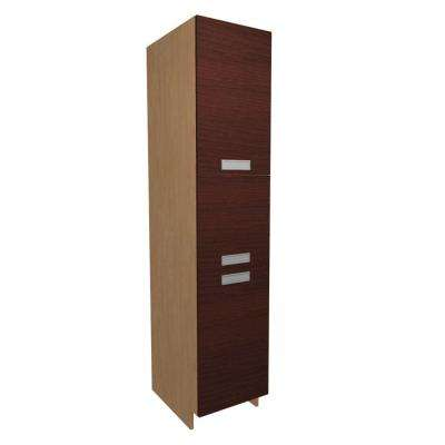 Genoa Ready to Assemble 18 x 84 x 24 in. Pantry/Utility Cabinet with in Cherry