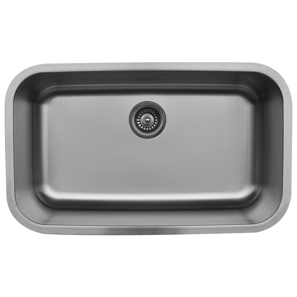 Karran Undermount Stainless Steel 31 In. Extra Large Single Basin Kitchen  Sink