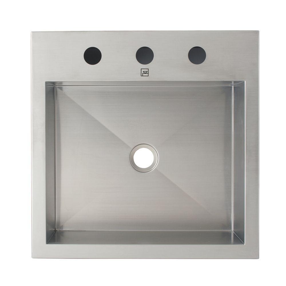 Crofton Series Modern Vessel Sink in Brushed Stainless Steel