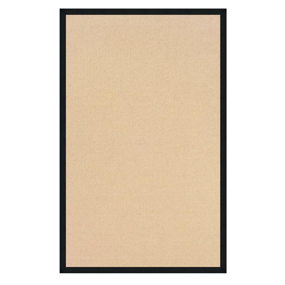 Athena Natural and Black 4 ft. x 6 ft. Area Rug