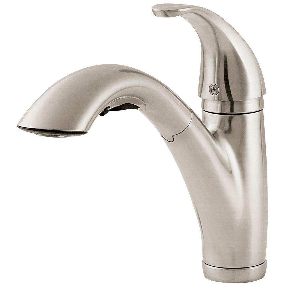 Exceptionnel Pfister Parisa Single Handle Pull Out Sprayer Kitchen Faucet In Stainless  Steel