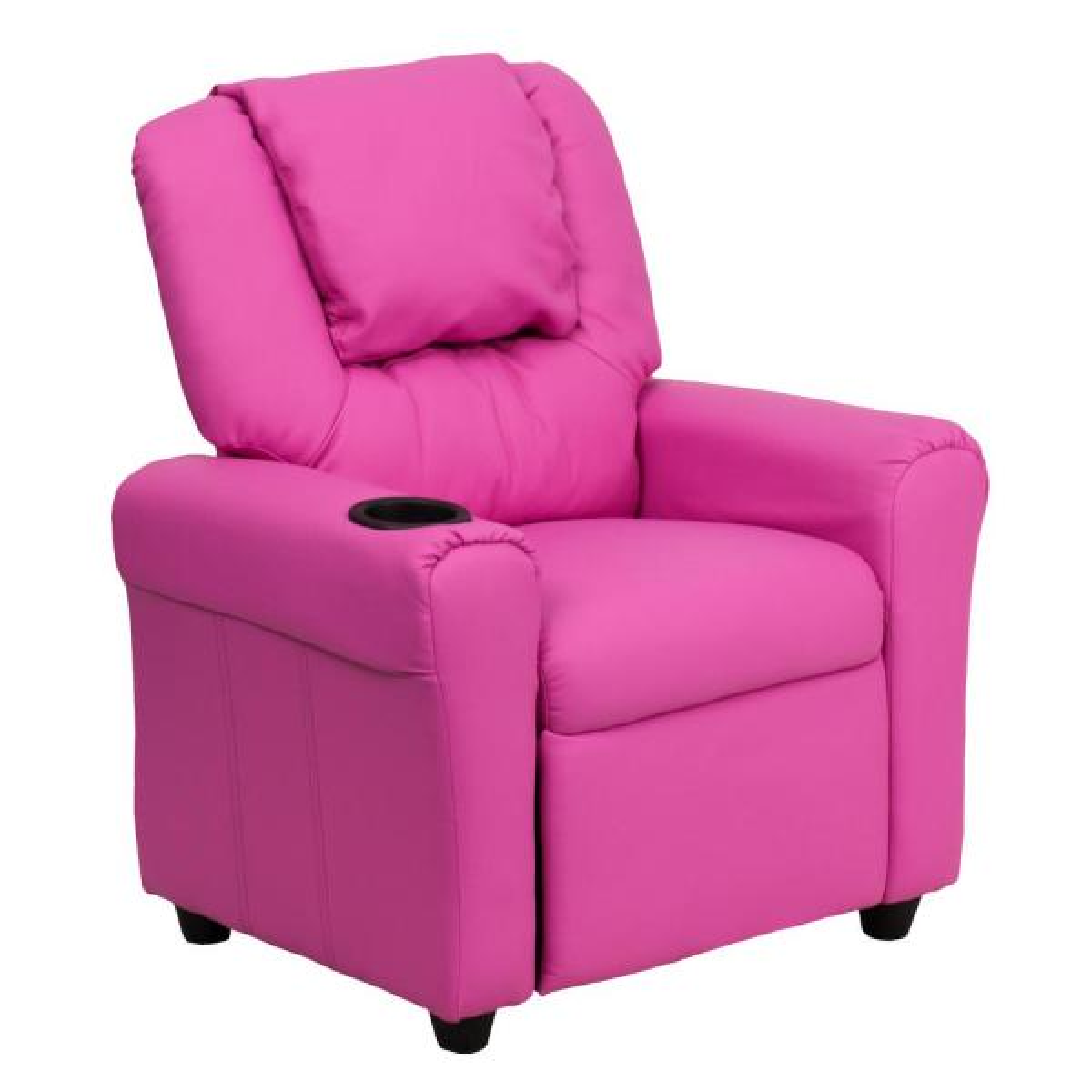 Flash Furniture Contemporary Hot Pink Vinyl Kids Recliner