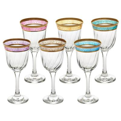 Melania Collection Multicolor White Wine (Set of 6)