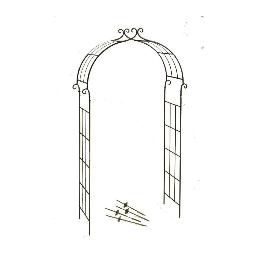 Deer Park 84 in. H x 43 in. W x 15 in. D Candy Cane Arch with Spikes