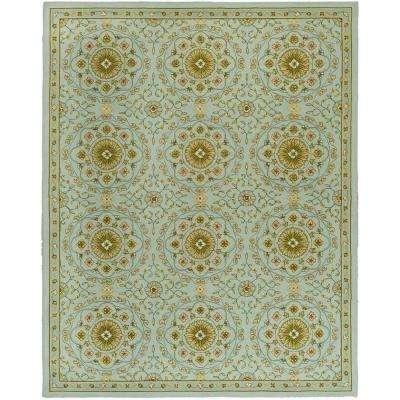 Chelsea Teal/Green 6 ft. x 9 ft. Area Rug