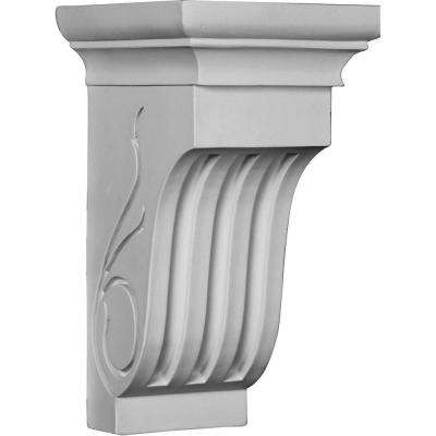 6-1/2 in. x 12 in. x 7-3/8 in. Polyurethane Edwards Curved Corbel
