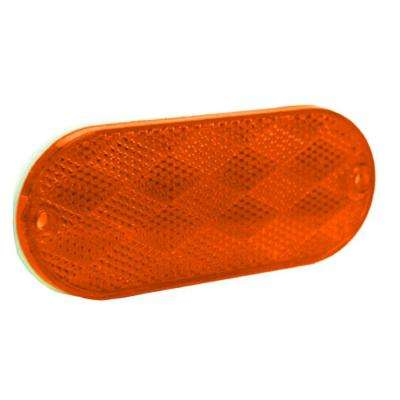 Reflector 4-3/8 in. Self Mount Oblong Amber (2 per Pack)