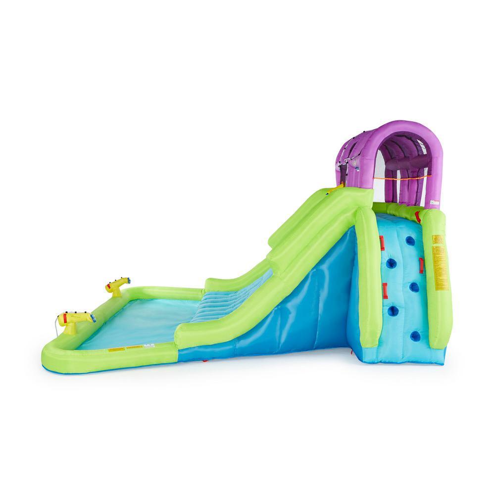 34.4 ft. x 15.9 ft. x 16.2 ft. Kahuna Mega Blast Inflatable Backyard Kids Pool and Slide Water Park