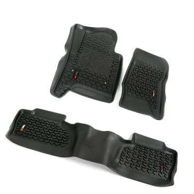 Floor Liners Black 3-Piece 2014-2016 GM Silverado/Sierra Double and Crew Cab Pickup