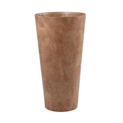 Napa 14 in. Round Brown Resin Planter