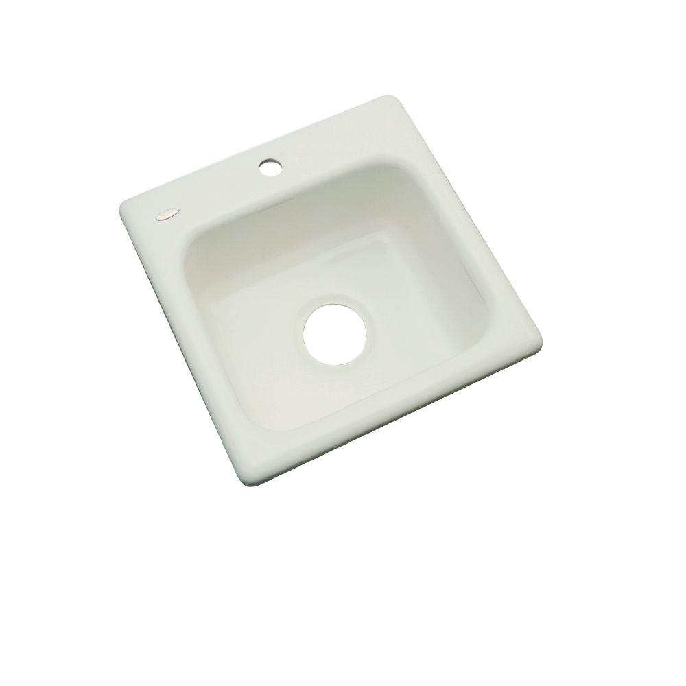 Manchester Drop-In Acrylic 16 in. 1-Hole Single Bowl Kitchen Sink in