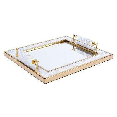 Gold Tray with Horn Handle