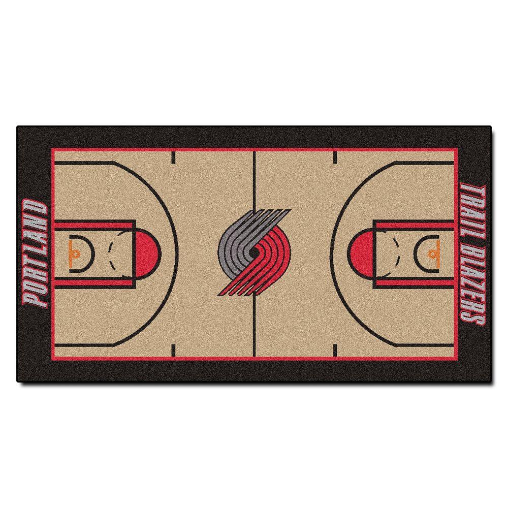 Large Basketball Area Rug: FANMATS Portland Trail Blazers 3 Ft. X 5 Ft. NBA Large