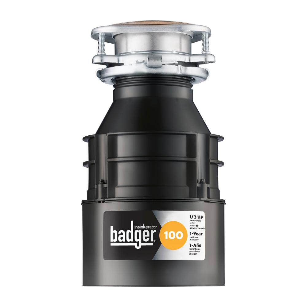 InSinkErator Badger 100 1/3 HP Continuous Feed Garbage Disposal