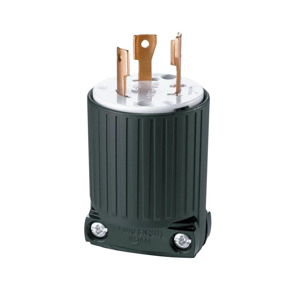 Remarkable Eaton 30 Amp 125 250 Volt 4 Wire Twist Lock Plug Black L1430P The Online Wiring Library Wiringthefutureboompriceit