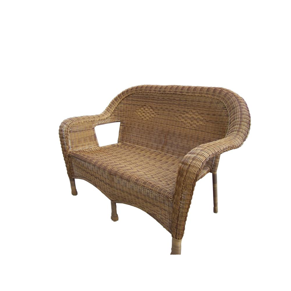 Remarkable Natural Wicker Outdoor Loveseat Cjindustries Chair Design For Home Cjindustriesco
