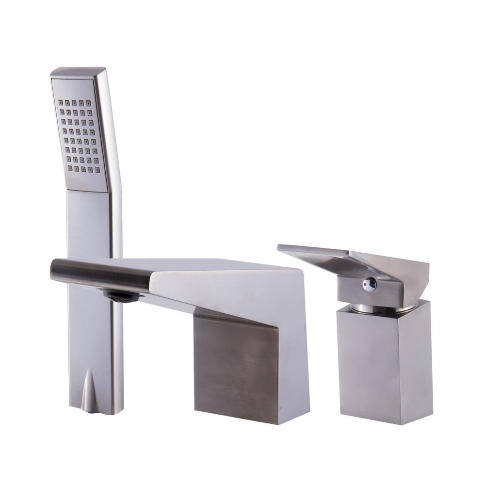 Single-Handle Tub Deck Mount Tub Faucet with Sleek Modern Design in