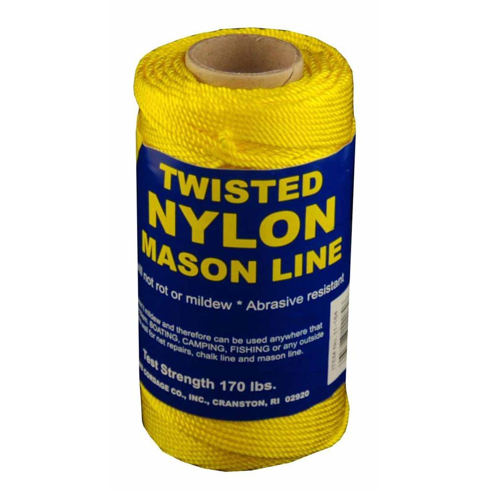 T w evans cordage 18 x 550 ft twisted nylon mason line for Fishing line home depot