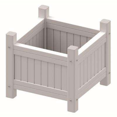 Vinyl 15 in. W x 15 in. D x 12 in. H Planter Box