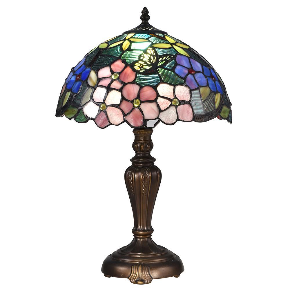 Springdale Lighting 19 In Fox Peony Antique Bronze Table