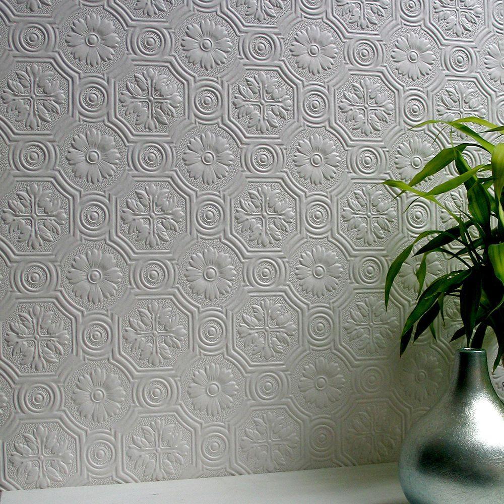 Spencer Paintable Supaglypta Wallpaper Sample