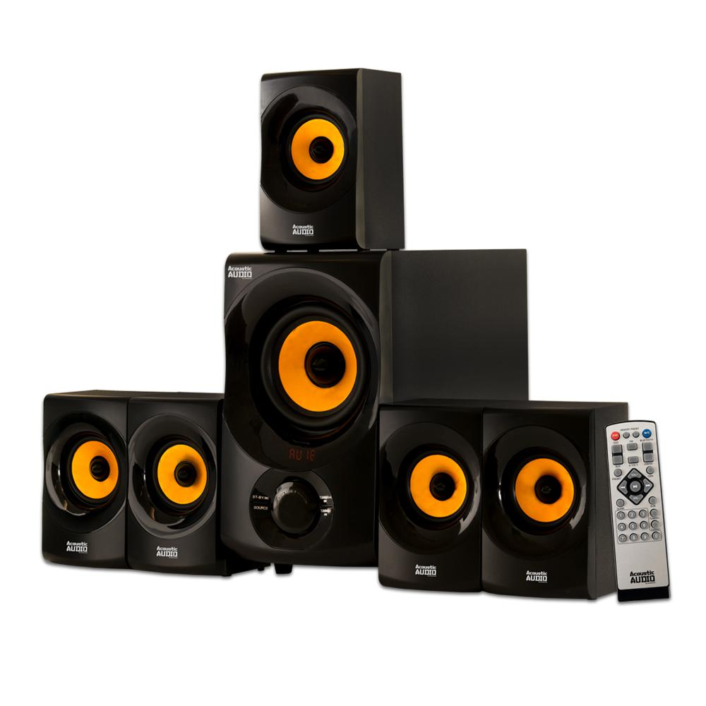 Bluetooth Home Theater 5 1 Speaker System With Fm Tuner