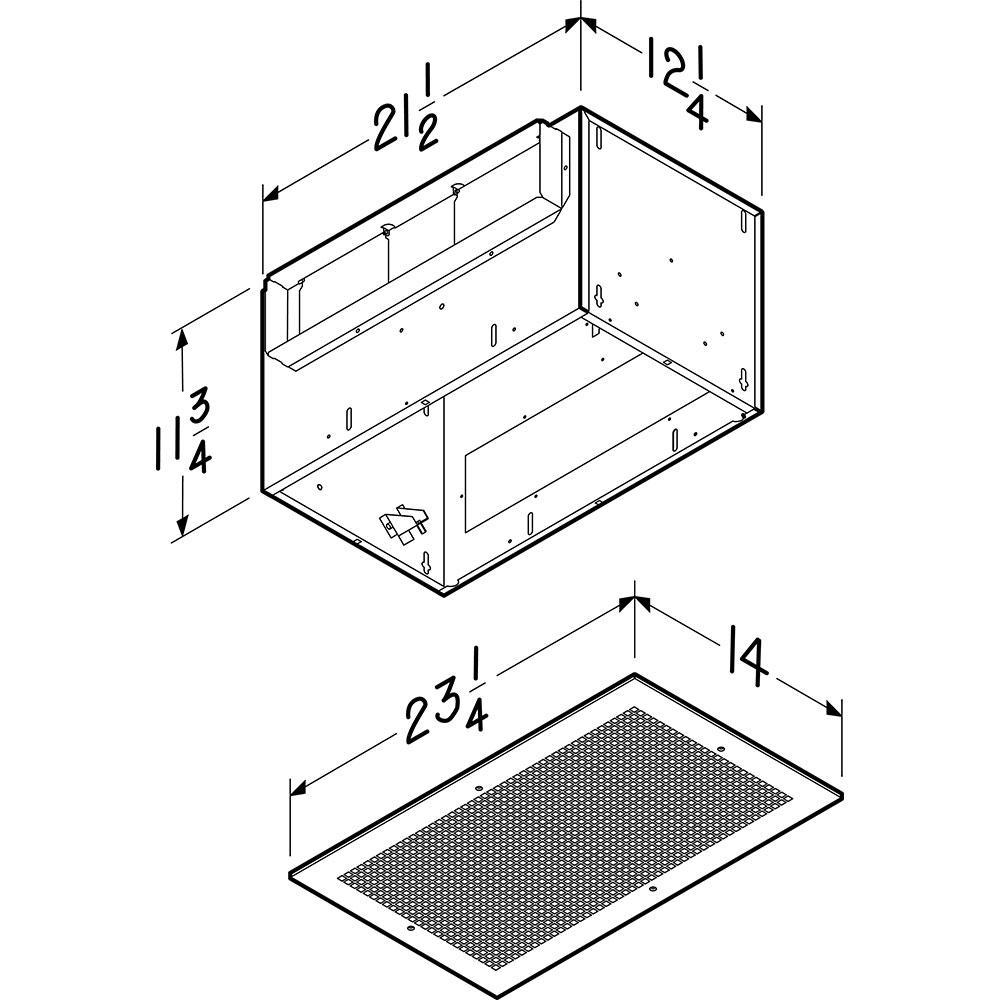 High Capacity Bathroom Exhaust Fan L400