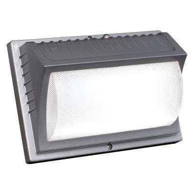 42-Watt Titanium Gray Integrated LED Outdoor  Wall Pack Light