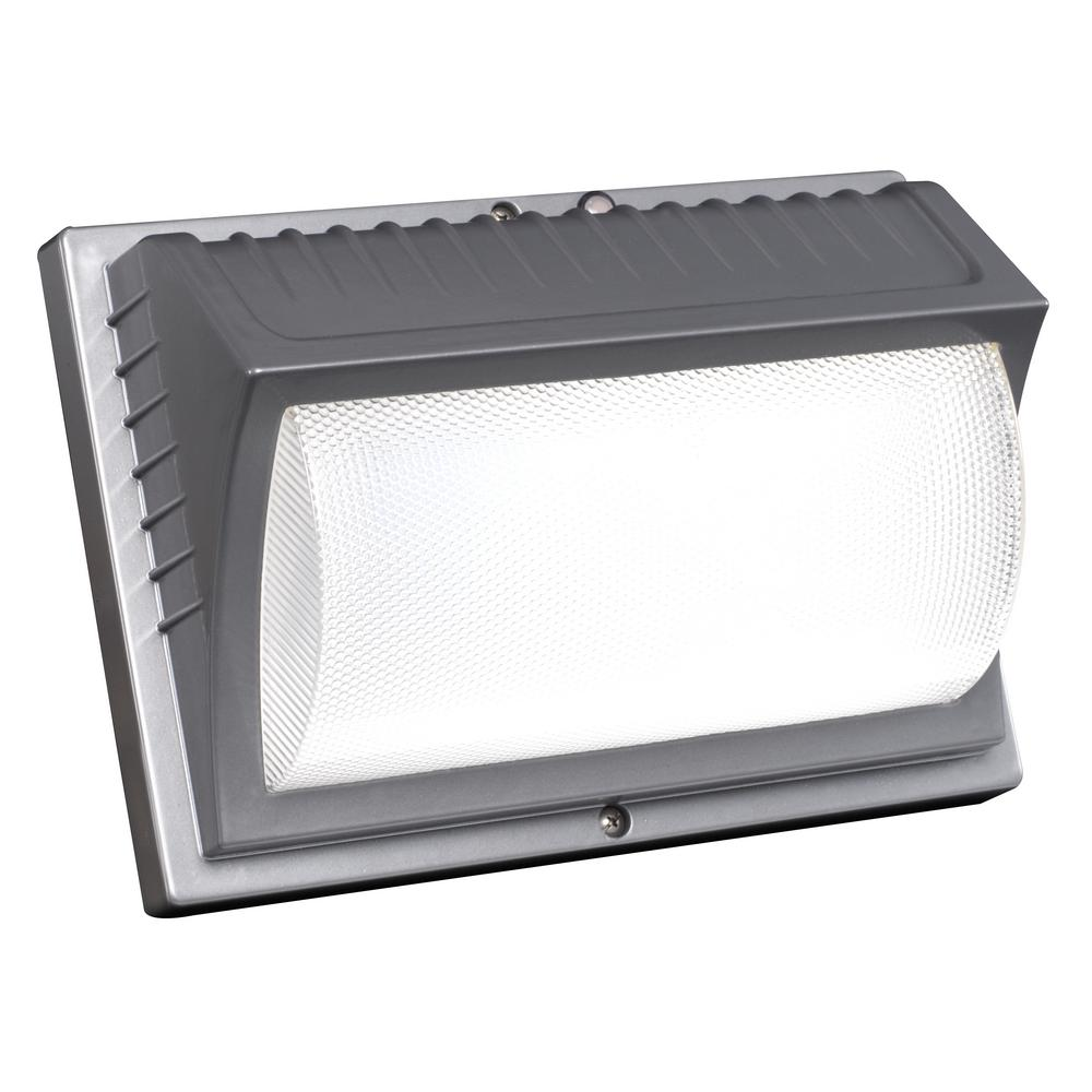 Honeywell 42-Watt Titanium Gray Integrated LED Outdoor  Wall Pack Light