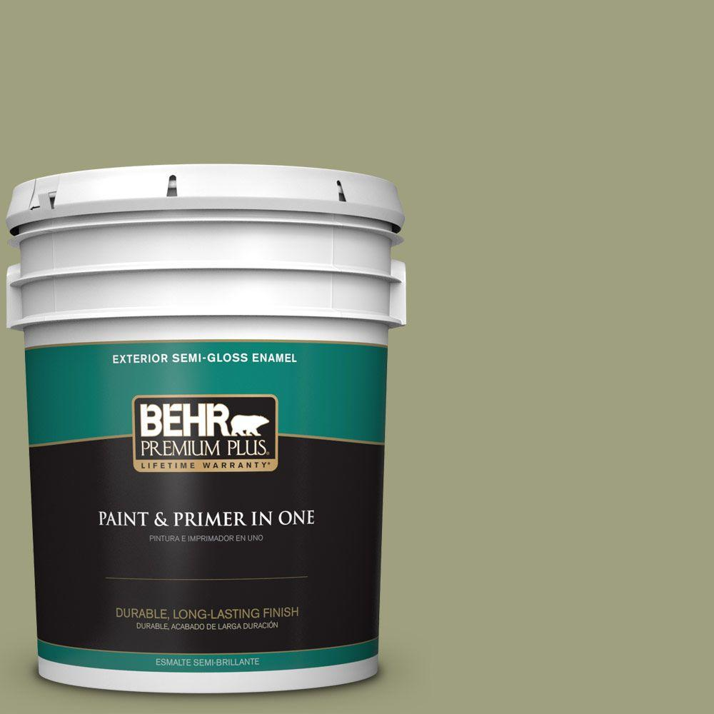 5-gal. #BIC-57 French Parsley Semi-Gloss Enamel Exterior Paint