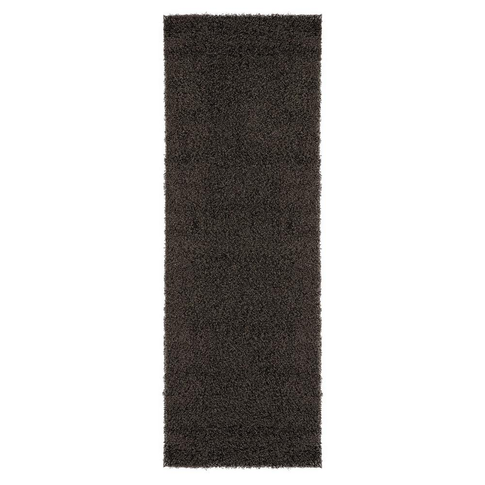 Sweet Home Stores Cozy Shag Collection Charcoal Gray 2 ft. 7 in. x 8 ft. Runner was $58.19 now $40.73 (30.0% off)