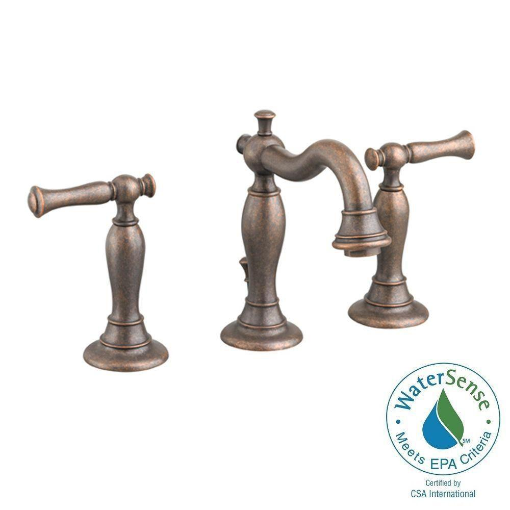 American Standard Quentin 8 In Widespread 2 Handle Mid Arc Bathroom Faucet In Oil Rubbed Bronze
