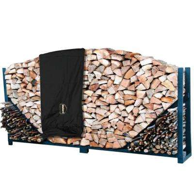 8 ft. Heavy-Duty Firewood Log Rack with Cover