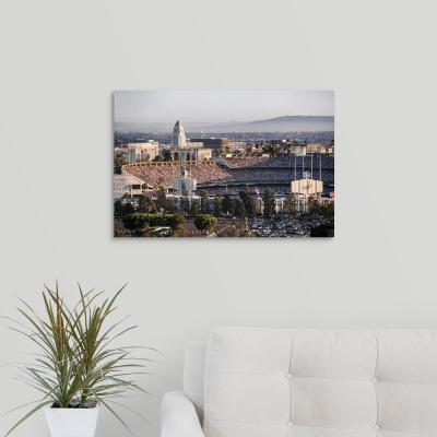 """Dodgers Stadium, Los Angeles, California"" by Circle Capture Canvas Wall Art"