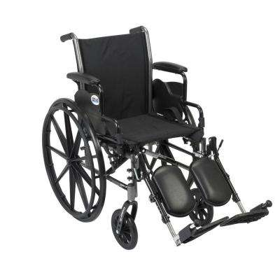 Cruiser III Wheelchair with Removable Flip Back Arms, Desk Arms and Elevating Legrests