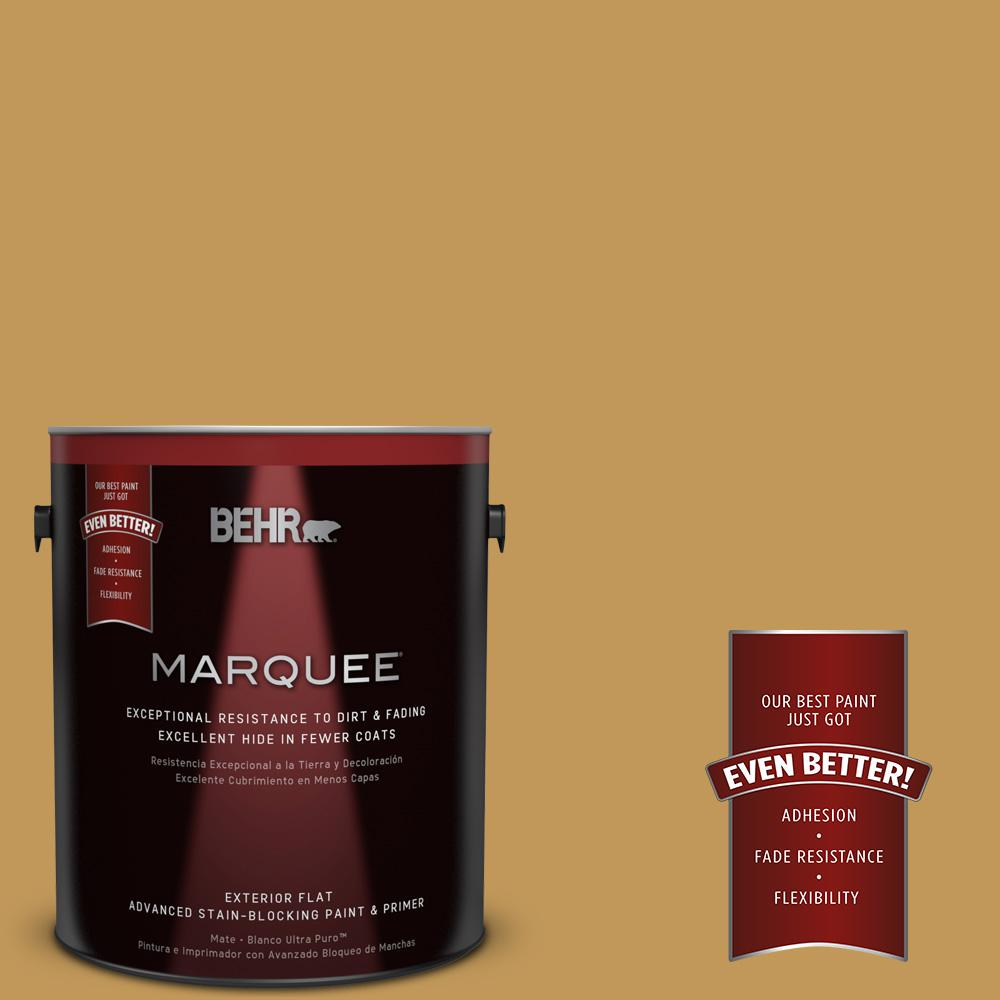 1-gal. #330D-6 Townhouse Tan Flat Exterior Paint
