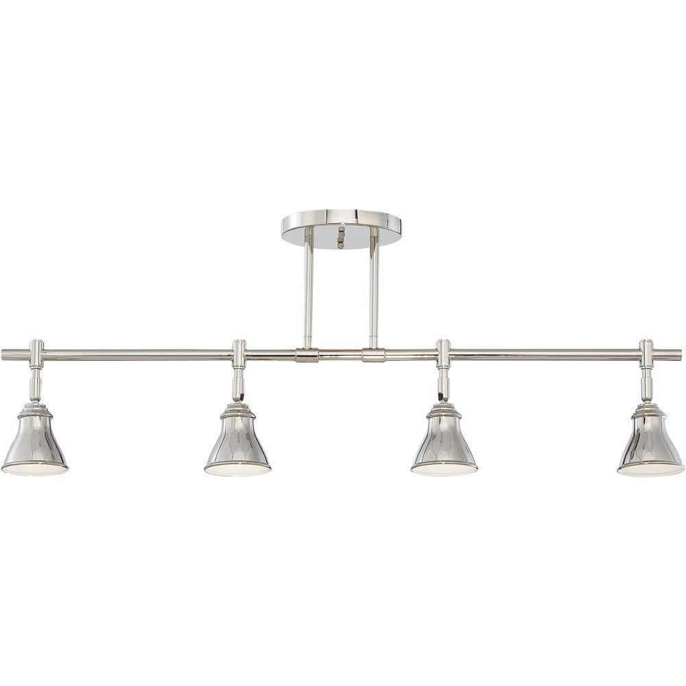 Filament Design Monroe 4-Light Imperial Silver Halogen Track Lighting Kit