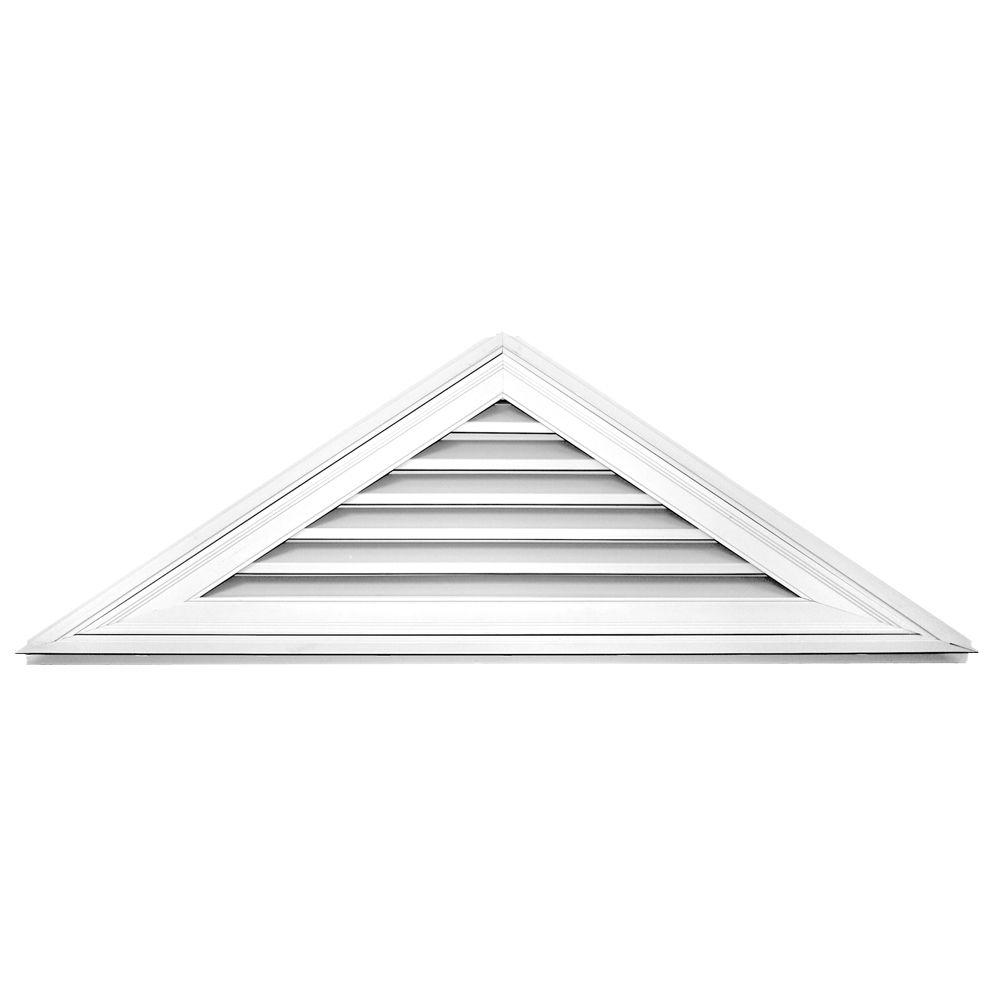 Builders Edge 8/12 Triangle Gable Vent #001 White