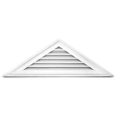 8/12 Triangle Gable Vent #001 White