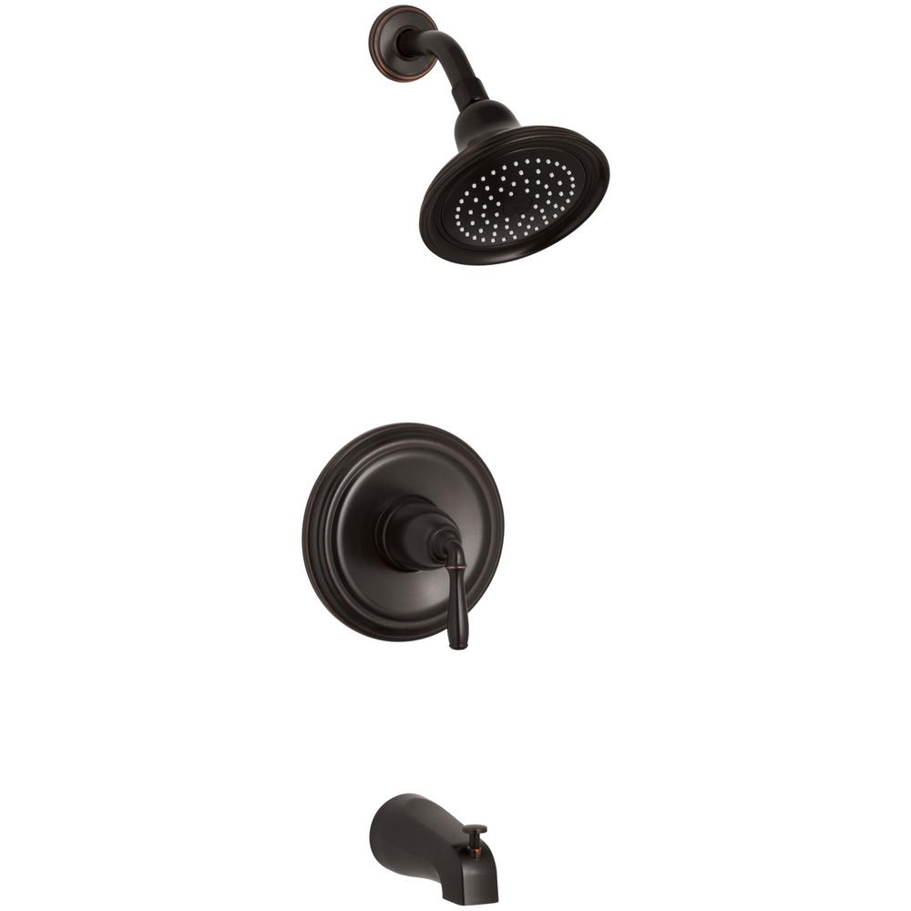 KOHLER Devonshire 1-Handle Rite-Temp Tub and Shower Faucet Trim Kit ...