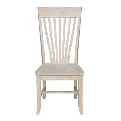 Amanda Unfinished Solid Wood Chair (Set of 2)