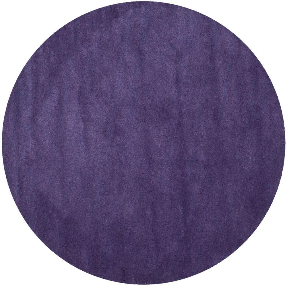 Safavieh Himalaya Purple 8 Ft X 8 Ft Round Area Rug Him610b 8r